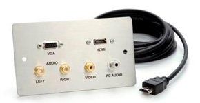 Audio Video Wall Plates and Floor Plates